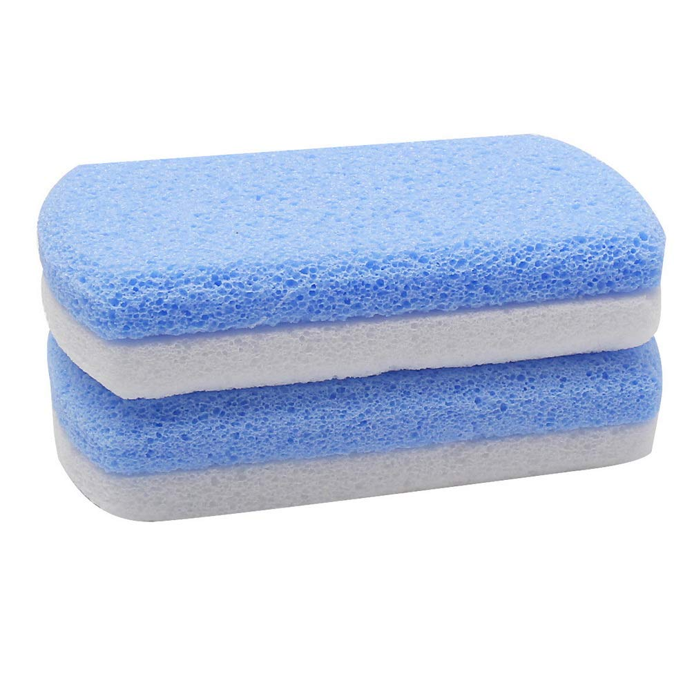 Omaha Mall FASHIONROAD 2 Pack Glass Pumice Stone Sided Har Double for Feet High order