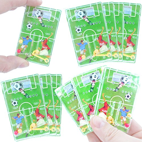 German-Trendseller® - 12 x Kinder - Fussball - Spiele Mix ┃ NEU ┃ Kindergeburtstag ┃ Mitgebsel ┃ 12 Stück