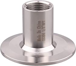DERNORD Sanitary Female Threaded Pipe Fitting to 2 Inch TRI CLAMP OD 64mm Ferrule (Pipe Size: 1/2