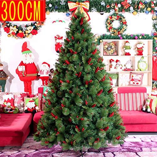 YGCLTREE Künstlicher Weihnachtsbaum,Mit Metallständern Branchen, Fisch-Skala Pine Cone Rot Obst Mixed Weihnachtsbaum,PVC Premium-Encrypted Branchen Für Zuhause-Party-Dekoration,Grün,300cm