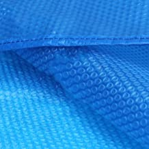 Cobertor Solar para Piscinas Piscina De Cubierta Solar Rectangular con Arandelas, Manta Solar For Piscina sobre El Suelo, Sábana De Lona Azul con Burbujas, 400 Micras (Size : 2x2m)