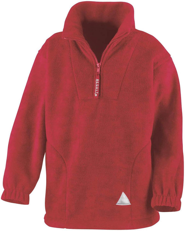 Result Kids//Youths Zip Neck Active Fleece
