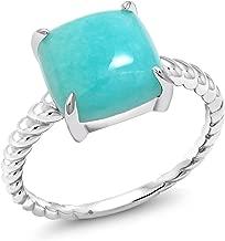 square stone ring