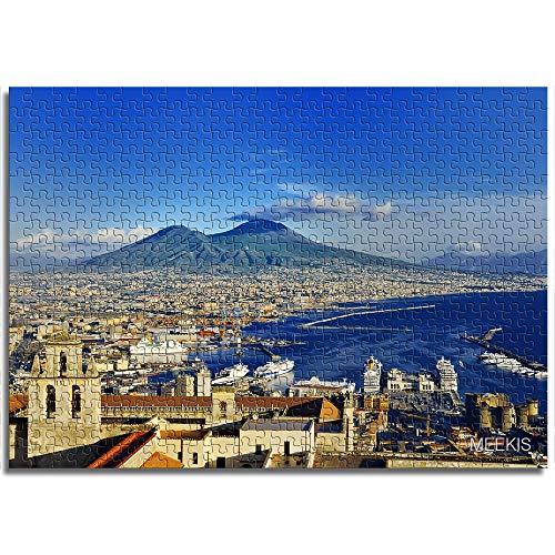 BOVIENCHE Puzzle per Adulti Puzzle in Legno 1000 Pezzi Panorama del Vesuvio Albero-Bambino Regalo Decorazioni per La Casa Festival Moderno Regalo Fai da Te -(52 X 38Cm)