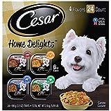 CESAR HOME DELIGHTS Soft Wet Dog Food Pot Roast & Vegetable, Beef Stew, Turkey Potato & Green Bean,...