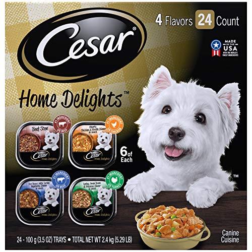 CESAR HOME DELIGHTS Soft Wet Dog Food Pot Roast & Vegetable, Beef...