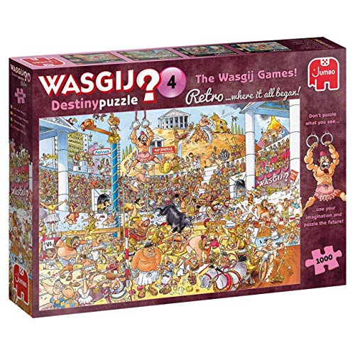 Jumbo Spiele GmbH 19178 - Wasgij Retro Destiny 4:Die Wasgij-Spiele!! (1000 Teile)