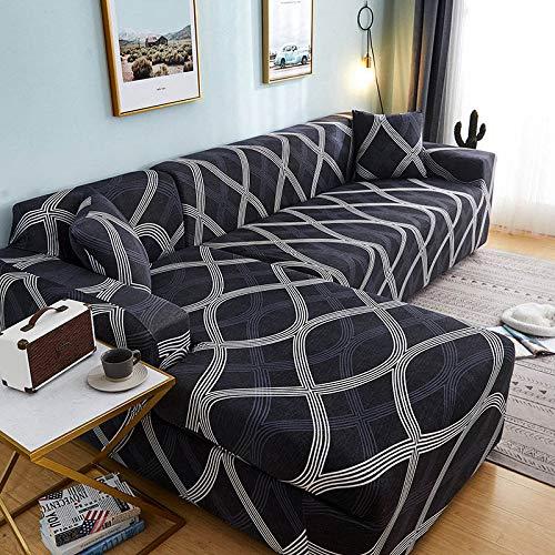 Fundas de sofá de Esquina en Forma de L para Sala de Estar, Fundas de sofá, sofá seccional elástico elástico, sofá Cubre, sofá A21 de 3 plazas