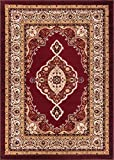 Well Woven Dulcet Isfahan Medallion Red Traditional Area Rug 5' X...
