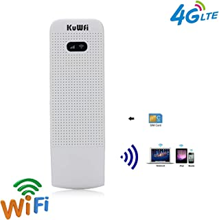 4G Router, KuWFi 100Mbps 4G LTE Router Wifi Móvil 4G / 3G / 2G Router USB WiFi Red inalámbrica móvil Hotspot Con Ranura pa...