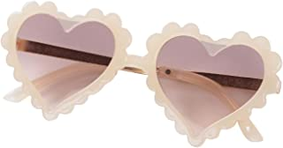 CHOSERL - Gafas de sol con forma de corazón para niños, bonitas gafas de sol para niñas (beige, corazón, talla única)