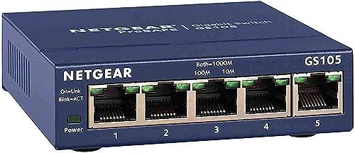 NETGEAR (GS105) Switch Ethernet 5 Ports RJ45 Métal Gigabit (10/100/1000), switch RJ45 Métal, Positionnement sur un bu...