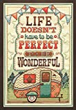Tobin 2903 14 Count Life is Wonderful Counted Cross Stitch Kit, 8' by 12', Multicolor
