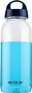 BOTTLED JOY 32oz Water Bottle Clear Water Bottle Dishwasher Safe Tritan BPA Free Sports Water Bottle Wide Mouth with Strap 1L Large Drink for Outdoor