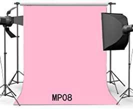 Gladbuy 5X7FT Baby Shower Backdrop Baby Pink Solid Color Wallpaper Vinyl Photography Background Toddler Infant Happy First Birthday Party Decoration Photo Studio Props MP08