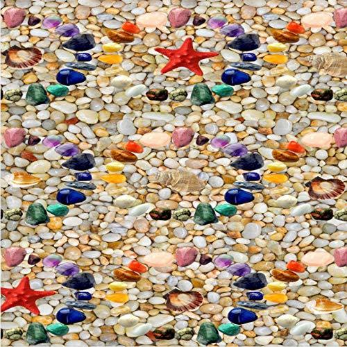 Pbbzl gekleurde stenen schalen Starfish 3D stereo vloer muurschildering winkelcentrum gang badkamer behang 280 x 200 cm.