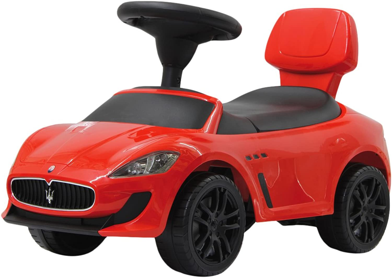 Jamara 460254 Maserati Gran Cabrio Mc Pushcar Including Tilt Predection Boot Openable Backrest Rear Headlights Dummy Motor Sound Horn, Red