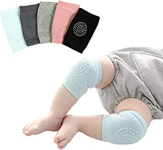 5 Pairs Baby Knee Pads for Crawling Toddlers Crawling Socks Adjustable Anti-Slip Elbow Leg Warmers for Boys and Girls