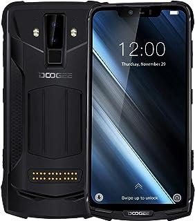 DOOGEE S90 Rugged Phone, 6GB+128GB, IP68 Waterproof Dustproof Shockproof, Dual Back Cameras, Face ID & DTouch Fingerprint, 6.18 inch Screen Android 8.1, Network: 4G, NFC, OTA, Dual SIM(Black)