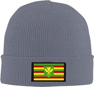 1358776a874 Unisex Kanaka Maoli Native Hawaiian Flag Skull Hats Knit Cap Winter Warm Cap  Beanie Hats
