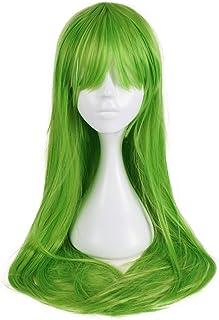 Mardi Gras perruque dames perruque Carnaval attirer long Poney vert vert fluo lm-142