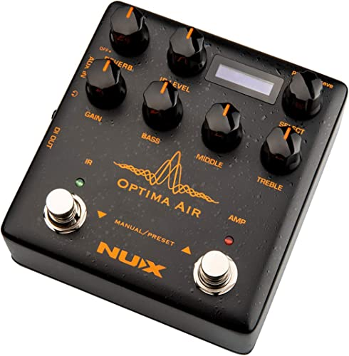discount NUX Optima Air Dual-Switch lowest Acoustic Guitar Simulator with a Preamp,IR popular Loader, Capturing Mode online