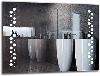 Espejo LED Premium - Dimensiones del Espejo 80x60 cm - Espejo de baño con iluminación LED - Espejo de Pared - Espejo de luz - Espejo con iluminación - ARTTOR M1ZP-45-80x60 - Blanco frío 6500K
