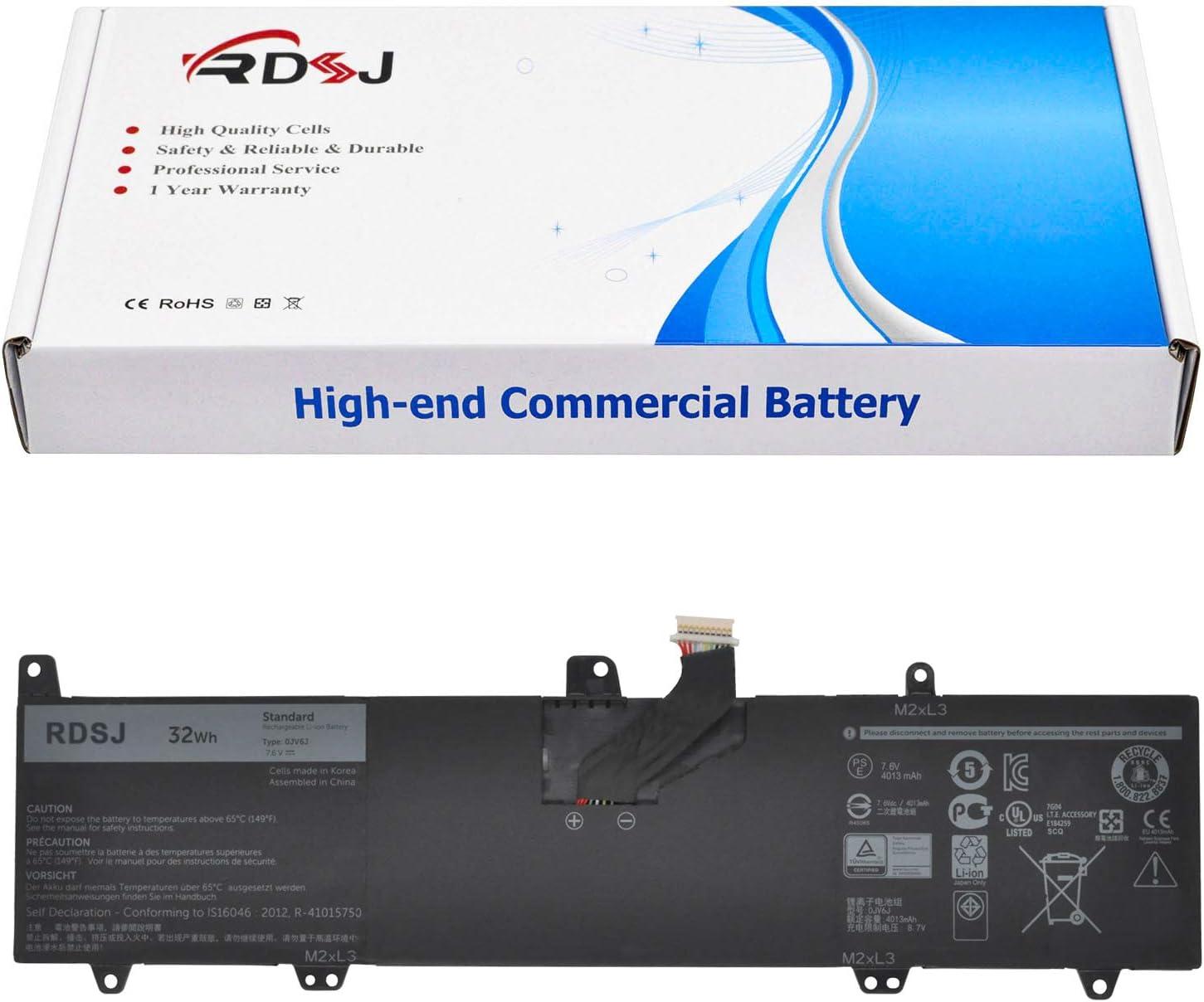 0JV6J Laptop Battery for Dell Inspiron 11 3162 3164 3168 3169 3179 3180 3185 Series OJV6J 8NWF3 08NWF3 PGYK5 0PGYK5 7.6V 32Wh