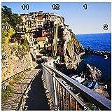 3dRose dpp_82209_2 イタリア、シンケ・テレ、マンローラ、MediTerranen Sea EU16 TEG0136 テリー・エッガース壁時計 13 x 13インチ