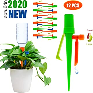 ?2020 NEW? Plant Self Watering Spikes System Non-stop Water, Automatic Irrigation Plant Waterer with Slow Release Control Valve Switch, Adjustable Water Volume Drip System for Outdoor Indoor Plants