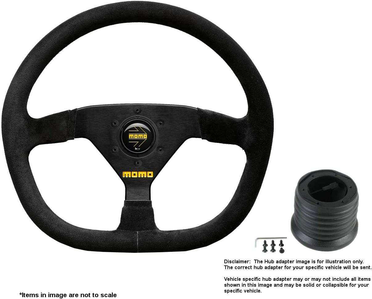 Japan Maker New MOMO MOD.88 350mm 13.78 Inches Brushed w Large-scale sale Steering Suede Wheel
