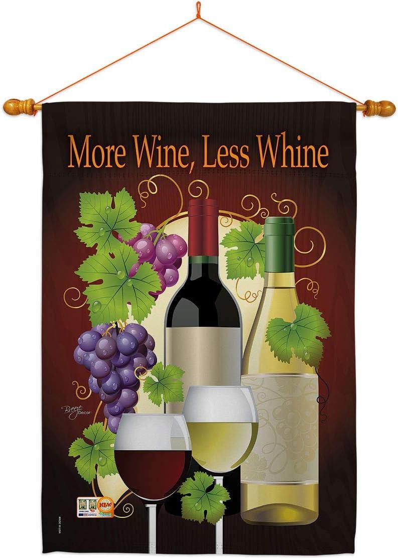 Breeze Decor Wine 海外輸入 More Less Whine Bev Dowel Set 通販 Flag House