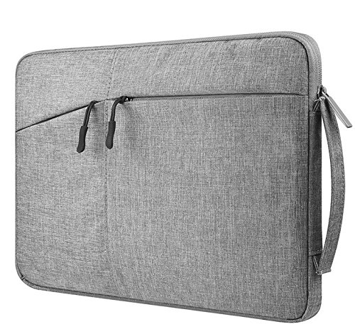Black Canvas Zippered Carrying Case Sleeve Bag for Microsoft Surface Book 2 15 / MSI GT63 Titan 8RG / Lenovo Ideapad 530s / Acer Aspire 5 / Aspire E 15 / Asus ZenBook Pro 15 / Dell XPS 15 / Dell G7 15