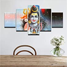 YANGSHUANG Canvas Prints Wall Art Image Framed Artwork Painting Picture Photo Home Decoration 5 Pieces Hindu god Shiva