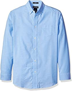 Boys' Solid Long-Sleeve Button-Down Shirt