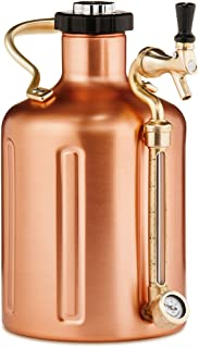 GrowlerWerks Copper uKeg Carbonated Growler, 128 oz