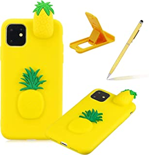 """TPU Case for iPhone 12 Mini 5.4"""",Soft Rubber Cover for iPhone 12 Mini 5.4"""",Herzzer Ultra Slim Stylish 3D Pineapple Series ..."""