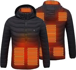 BSTOB Giacche riscaldate per Uomo, Giacca Invernale Intelligente riscaldante 8 Zone Cappotto riscaldante 3 Giacca con Capp...