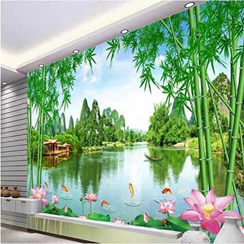 Shuangklei op maat niet-geweven behang mooie scène Jiangnan goede scène tv woonkamer 120 x 100 cm.