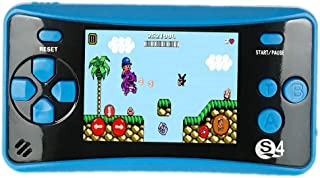"JJFUN QS-4 Handheld Game Console for Kids, Portable Arcade Entertainment Gaming System Retro FC Video Game Player 2.5"" Color LCD 182 Classic Games, Birthday Present for Children(Blue)"