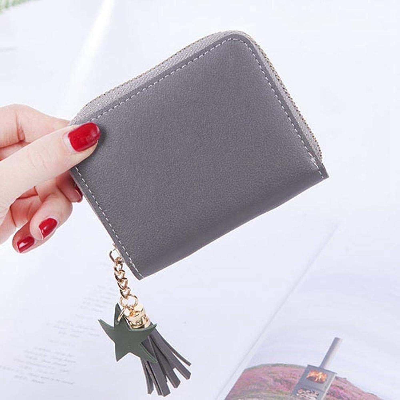 Girls Purse Women's Wallet,Square Lady Purse Short Zip Zipper Small Clip Mini Wallet PU Leather (color   B)