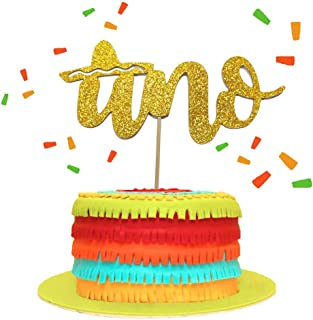 Uno Cake Topper, Fiesta Cake Topper, Fiesta First Birthday Smash Cake Kit, Fiesta Cactus Taco Party Decorations Supplies