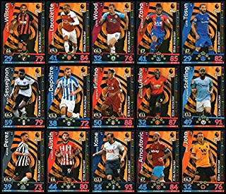 MATCH ATTAX 2018/19 Full Set of Fifteen (15) Elite Attacker Cards