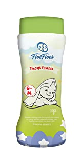 Five Fives Talcum Powder for Kids with White Musk Scent, 0 Months - 100 gm