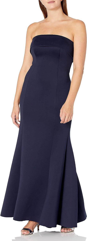 Eliza J Women's Strapless Collar Gown