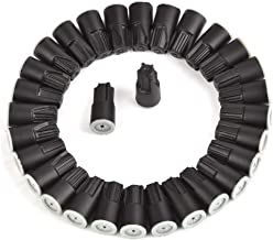 ATPWONZ 30pcs Waterproof Twist Connectors Grease Outdoor Seal Elect Wire Nuts Electrical Wire Connector Black/White