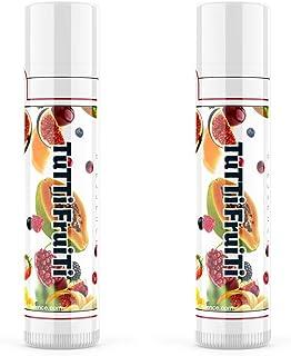 (Set of 2) Tutti Frutti Chapstick Hemp Seed Oil Lipstick w/Beeswax and Aloe Vera Pure Hemp Organic Lip Balm for Dry Lips M...