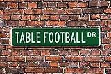 Cartel de futbolín, de futbolín, de futbolín, regalo de futbolín, cartel de metal de calidad, decoración de metal novedoso para la calle, 8 x 30 cm