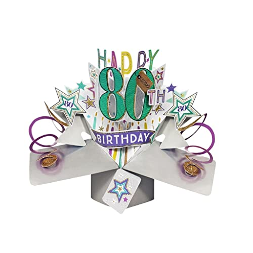 Second Nature Pop Ups 80th Birthday Card