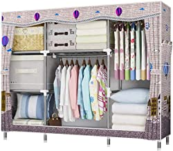 Portable Wardrobe Foldable Wardrobe Oxford Cloth Wardrobe Portable Wardrobe Clothing Storage Cabinet Saves Space Clothing ...
